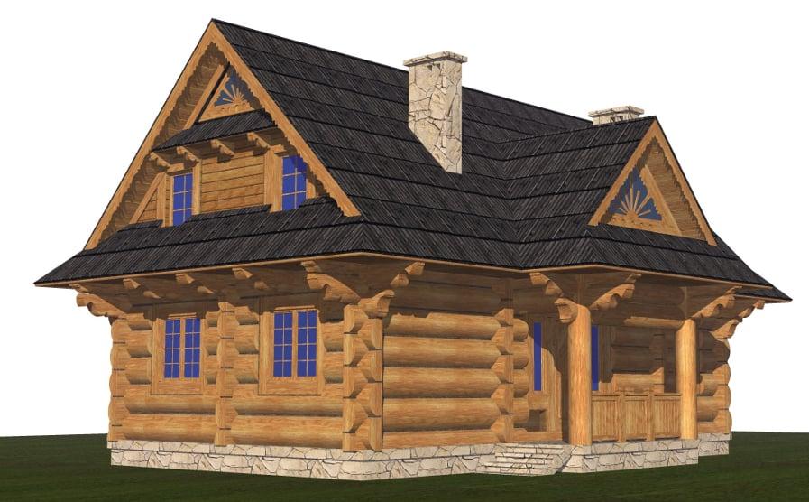 projekt domu z bali